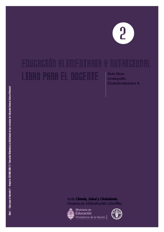 Educación Alimentaria Y Nutricional Libro Para El Docente Este Libro